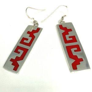 Sterling Silver 925 Dangle Earrings Mexico Taxco